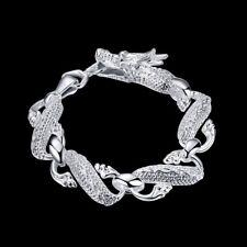 ASAMO Drachen Armband 925 Sterling Silber plattiert Schmuck Drache Damen Herren