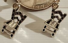 Miniature Fashion Jewelry Earrings Charms Chairs design Silvertone #1 CLEARANCE