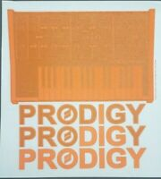 "Moog Prodigy Logo Iron On Heat Transfer Orange & Black 9"" x 9""  Synthesizer"
