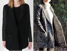 Zara Patternless Blazer Popper Coats & Jackets for Women