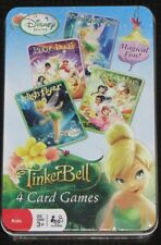 Disney Fairies - TinkerBell 4 card Games in Tin Box NEW Ages 3+ Toy