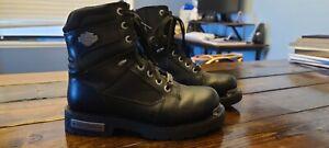 Harley-Davidson Men's Motorcycle Boots Size 8.5 Black Stock No. 95249