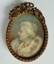 Miniatur Portrait, einer vornehmen alten Dame, Gouache, um 1900