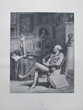 Der Kunstfreund von Honoré Daumier - Kupfertiefdruck aus 1942 Karikatur