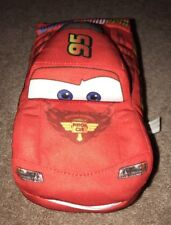 Disney Cars Plush Push Button Talking McQueen With Moving Mouth EUC