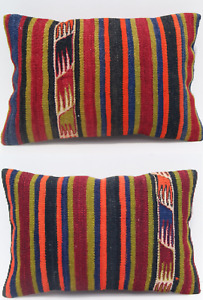 "Turkish kilim pillow Turkish pillows Turkish rug pillows handmade cushion 20X14"""