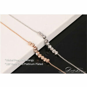 1Piece Women Accessory Ankle Chain Wave Lines Beads Ankle Bracelet Elegant