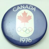 1976 Canada Montreal Olympic Canadian Pin Back Button C757