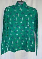Laura Scott Womens Plus Green Ugly Christmas Mock Turtle Neck Top NWT