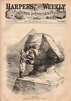 1877 Harpers Weekly July 14-Fourth July in Blackville;Nast-Suez Canal;Gambetta