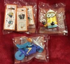 3 Minion McDonald's Despicable Australian New TOY set Lucy, Dominoes, Crab Bite