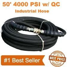 "Pressure Washer Parts Hose 3/8"" x 50' 4000psi With Quick Connects"