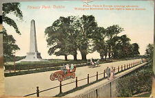 Irish Postcard PHOENIX PARK Wellington Monument Touring Car 1910 Dublin Ireland