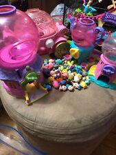 HUGE LOT OF 50 SQUINKIES + Playsets (Disney, Gumball Machines Etc)