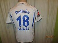 FC Schalke 04 Adidas Kinder Auswärts Trikot 2007/08 + Nr.18 Rafinha Gr.152 TOP