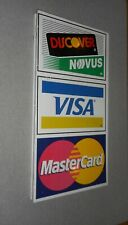 Old Vintage Master Card, Visa, Discover Two-Sided Metal Sign * Lots of photos *