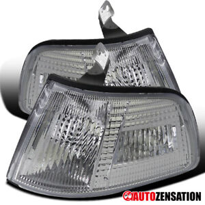 For 1990-1991 Honda Civic 2/3Dr Clear Corner Signal Lights Lamps Left+Right