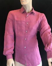 BNWT HUGO BOSS Lukas Pure Linen Long Sleeve. Med Pink Size L SAVE £40!