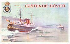 Postcard Oostende-Dover Etatbelge Belgische Staat Ship at Sea~112341