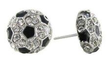 Soccer Ball Rhinestone Earrings
