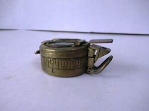 "Vintage Brass Compass Stamped Tg Co Ltd London No B 179633 Circa1942 Mk Iii""F"