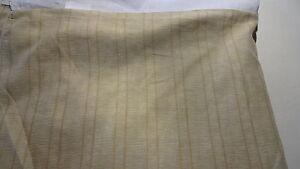 "BED SKIRT Dust Ruffle  Sz  King  78"" W X 80"" L X 14"" Gold Colors Stripes"