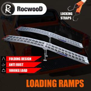 Folding Aluminium Ramps X 2 ATV Quad Golf Buggy Mobility Scooter Loading 1000KG