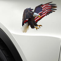 Bald Eagle American USA Flag Decal Truck Car Window Laptop Sticker Bumper Cooler