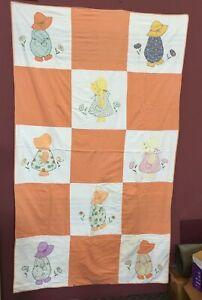 """Vintage Sunbonnet Baby Quilt - 48"""" x 82""""   Sun Bonnet"""
