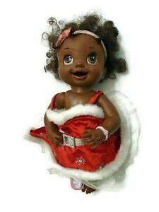 "Hasbro Baby Alive African American Talking Santa Doll 16"""