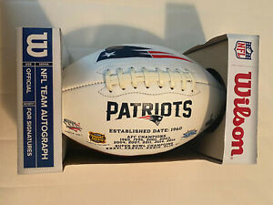 Wilson NFL Team Autograph New England Patriots Football- New
