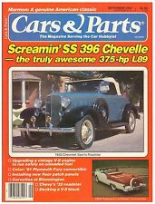 CARS & PARTS magazine September 1987--Chevrolet, Ford, Packard and Plymouth