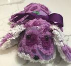Cutest Purple Puppy Dog Pillow Toy Nursery Decor from Chenille Bedspread 10'x15'