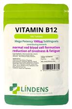 Vitamin B12 Super Strength 1000mcg 100 Tablets Stress Busting
