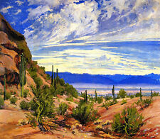 Desert Landscape   by Jessie Benton Evans   Giclee Canvas Print Repro