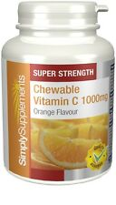 Chewable Vitamin C 1000mg | 180+180 (360) Tablets | Orange Flavour High Strength