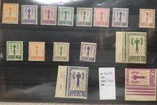 """FRANCE  TIMBRE SERVICE 1 à 15 """" SERIE FRANCISQUE 1943 """" NEUFS ** LUXE ET 3 BORD"""