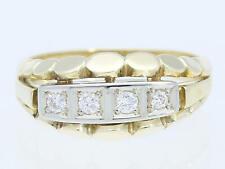 Vintage anillo 0,16 quilates brillante 585 oro 14 quilates para Alemania 1960