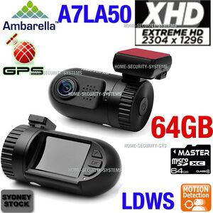 Dash camera mini 0805 GPS 64GB In Car Camera A7 1296P Ambarella Truck Blackbox