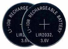 2 x LIR2032 Pila Batteria Ricaricabile replace BR CR DL ECR KCR ML LIR 2032 3.6V