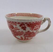 Woods Burslem Seaforth Rot Tasse Kaffeetasse Keramik England