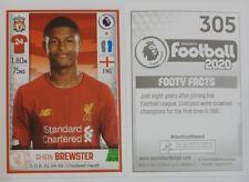 Panini football 2020 Rhian BREWSTER, Liverpool rookie sticker #305  MINT