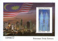 Malaysia KLCC Twin Towers MS stamp