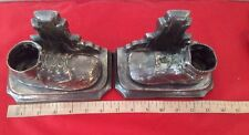 Pewter Color Baby/Toddler Shoes Bookends, Great Nursery Decor