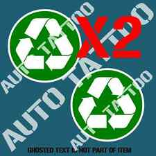 RECYCLE DECAL STICKER X2 COMMERCIAL GARBAGE BIN OH&S SAFETY DECALS STICKERS