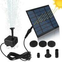 1* Solar Power Fountain Water Pump Floating Panel Garden Pool Pump Outdoor G8O6