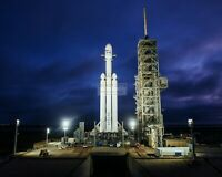 SPACEX FALCON HEAVY @ LAUNCH PAD 39A KENNEDY SPACE CTR 8X10 NASA PHOTO (AB-584)