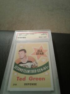 1969-70 opc 218 Ted Green AS Psa 9