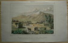 1838 print VIEW OF LITTLE AND GREAT ARARAT, TURKEY (#18)