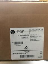 Sealed Allen Bradley 2711P-B15C4D7 /A PanelView Plus 1500 Key Touch Enet RS-232